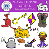 Letter K Clip Art {Beginning Sounds} Alphabet