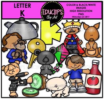 Letter K Clip Art Bundle {Educlips Clipart}