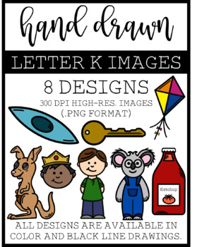 Letter K Clip Art : Hand Drawn Clip Art