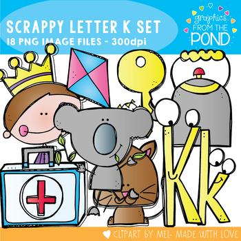 Scrappy Letter K Clipart