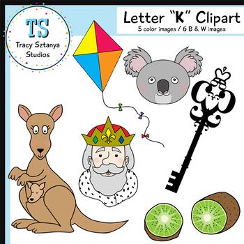 """Letter """"K"""" Clipart Set {Tracy Sztanya Studios}"""