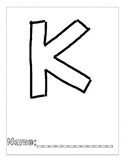 Letter K Color and Trace AlphaBook