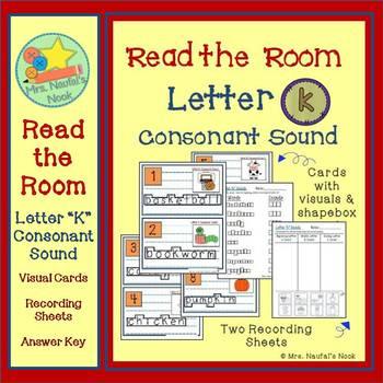 Alphabet Read the Room Letter K