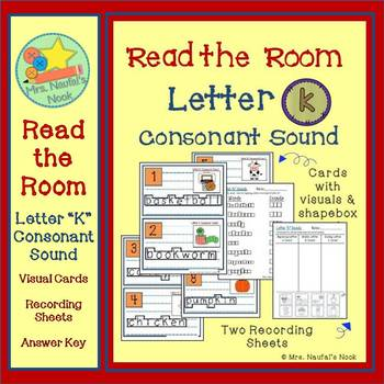 Letter K Consonant Sound Read the Room