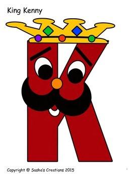 Letter K Craft: King Kenny Alpha Pal