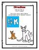 Letter K Craftivity - Kangaroo - Zoo Phonics Inspired - Color & BW Versions