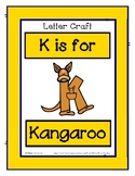 Letter K Craftivity - Kangaroo - Zoo Phonics Inspired - Co