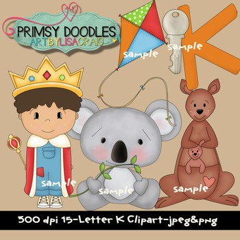 Letter K Early Learning Clipart