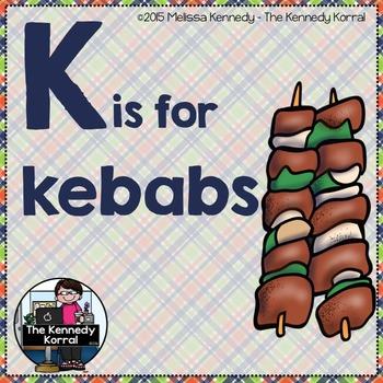 Letter K is for Kebobs
