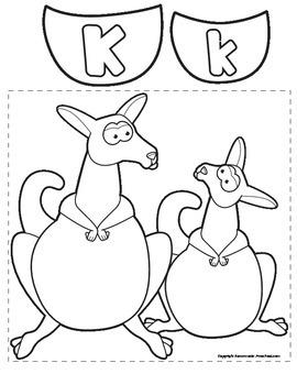 Letter K Kangaroo Pouches Match