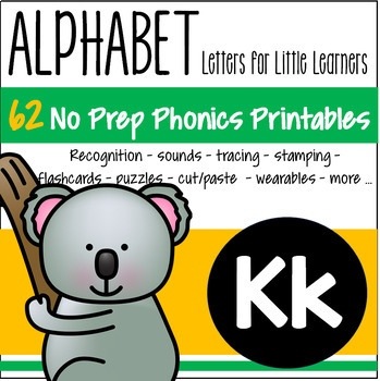 Alphabet K Letter of the Week Phonics Recognition, Sound, Tracing & Craftivities
