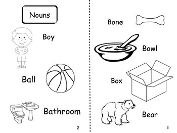 Letter B - Non Fiction book. Noun, Verb and Adjective sort using the book.