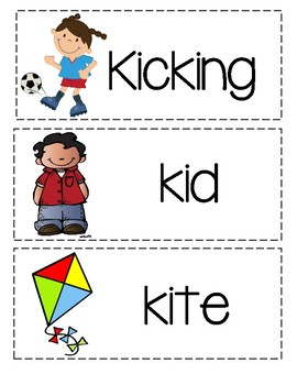 Letter K - Picture Word Cards