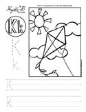 Letter K Trace and Write Worksheet Pack