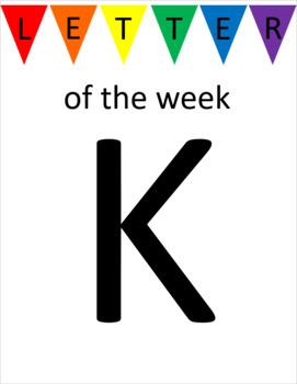 Letter K Unit