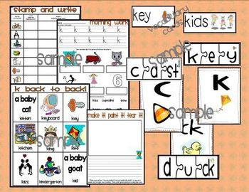 Letter K Word Work and Literacy Station Centers