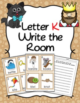 Letter K Words Write the Room Activity
