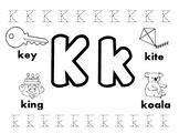 Letter K Worksheets!