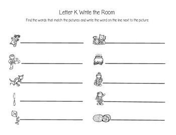 Letter K Write the Room