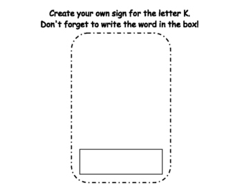 Letter K Write the Room- Includes 3 levels of answer sheets