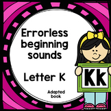 Letter K adapted book errorless learning
