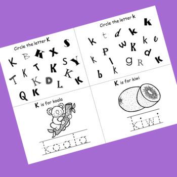 Letter K booklet