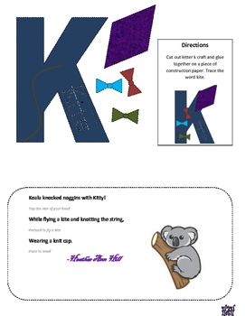Letter K cutout craft