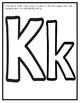 Letter K from the Alphabet Mega Bundle/Letter of the Week