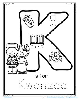 graphic about Printable Letter K named Letter K is for Kwanzaa Hint and Shade Printable Free of charge via