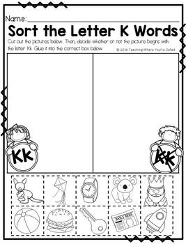 Letter Kk Activity Pack