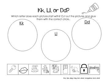Letter Kk Activity Packet