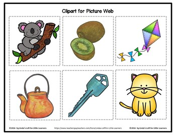 Letter Kk Beginning Sound Picture Web Activity