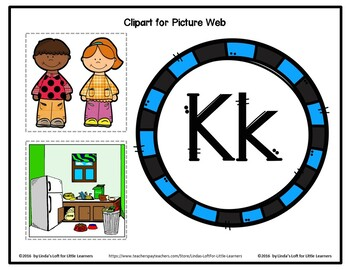Letter Kk Letter of the Week Picture Web Activity