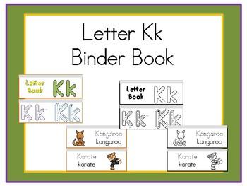 Letter Kk Binder Book