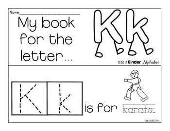 Letter Kk Booklet- Predictable Sentences