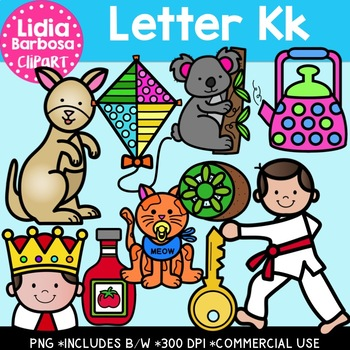 Letter Kk Digital Clipart