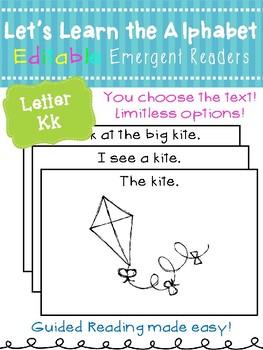 Letter Kk *Editable* Alphabet Emergent Reader