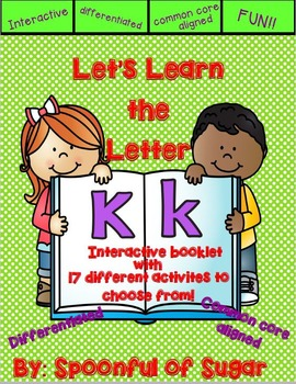 Letter Kk- Interactive Activities Booklet
