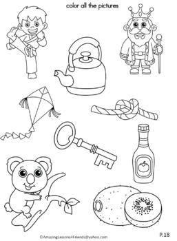 Letter Kk Journal for Toddlers