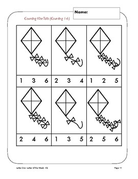 Letter Kk (K is for Kites and Wind): Letter Zoo- Preschool Curriculum