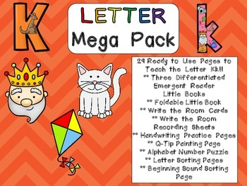 Letter Kk Mega Pack- Kindergarten Alphabet- Handwriting, Little Books, and MORE!
