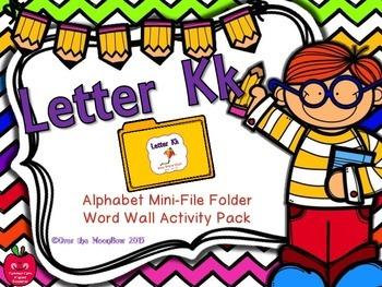 Letter Kk Mini-File Folder Word Wall Activity Pack
