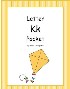 Letter Kk Phonics and Writing pack