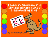 Letter Kk Trick for Placement within Handwriting Lines