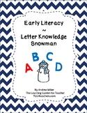 Letter Knowledge Snowman Theme
