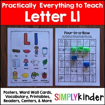 Letter L | Alphabet Printables and Centers