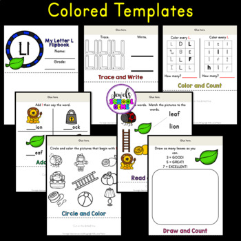 Letter L Alphabet Flip Book (Alphabet Interactive Notebook Activities)