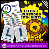 Letter L Alphabet Interactive Notebook Activities Flipbook