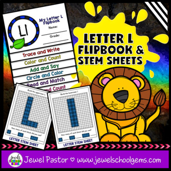 Letter L Alphabet Interactive Notebook Activities Flipbook