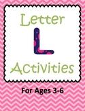 Letter L Activities- 46 Pages! {Common Core}